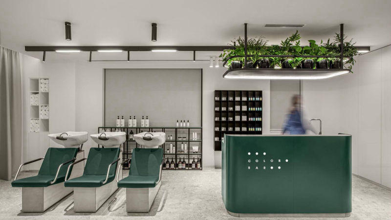 Melbourne hair salon designing and decoration - operation area
