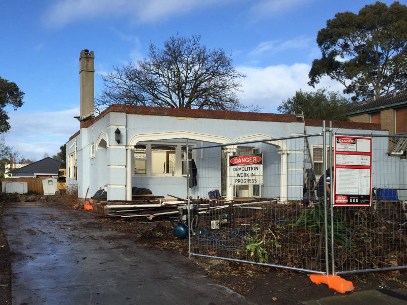Melbourne home extension - demolition