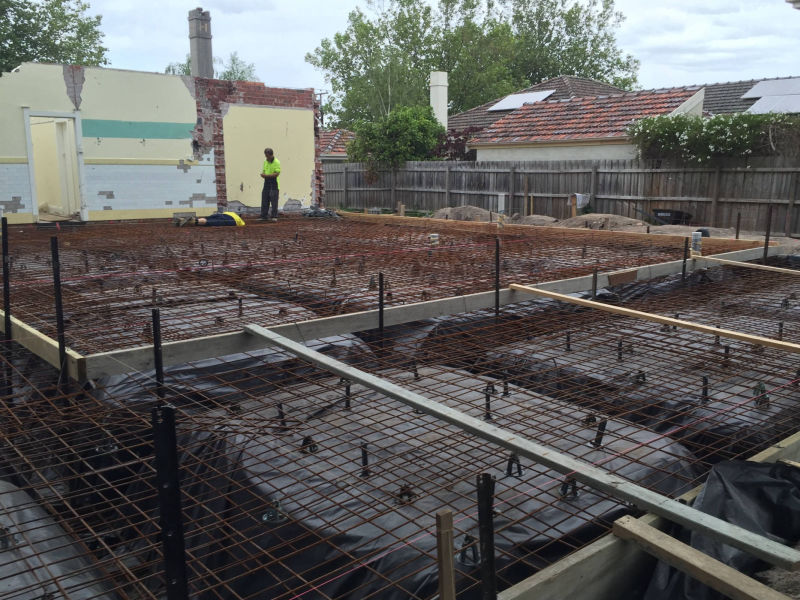 Melbourne home extension - Cement Pouring and Foundation